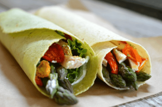 Toufayan Bakeries Asparagus Chicken Wrap