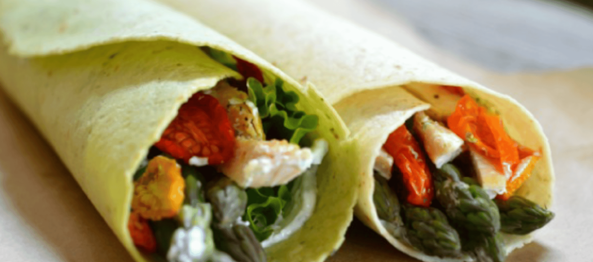 Toufayan Bakeries Asparagus Chicken Wrap