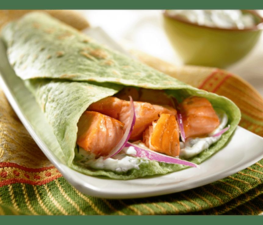 Toufayan Bakeries Cucumber Salmon Wraps