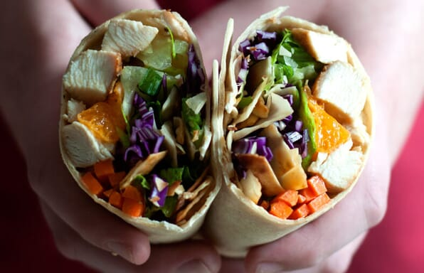 Chinese Chicken Salad on Toufayan Bakeries Wraps