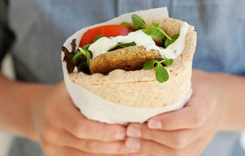 Falafel Stuffed Flatbread