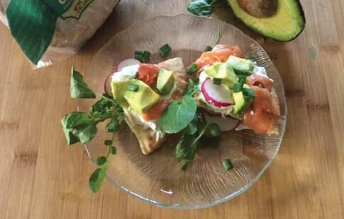 Avo Salmon & Cheese Boats