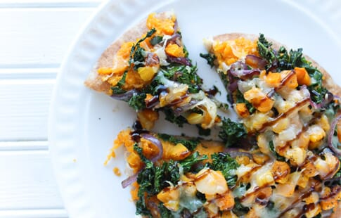 Butternut Squash and Kale Pita Pizza