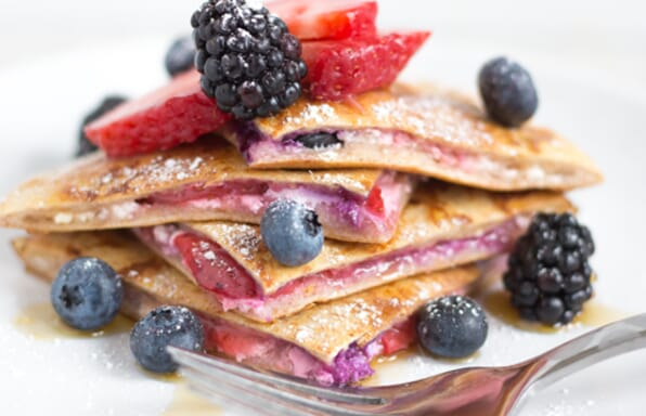 Berry Stuffed French Toast Pitas