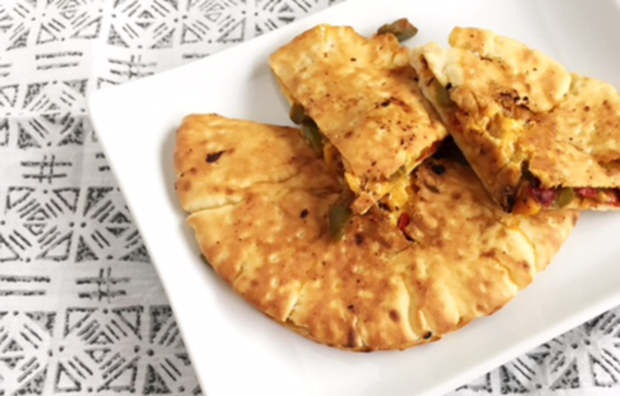 Vegan Pita Quesadillas