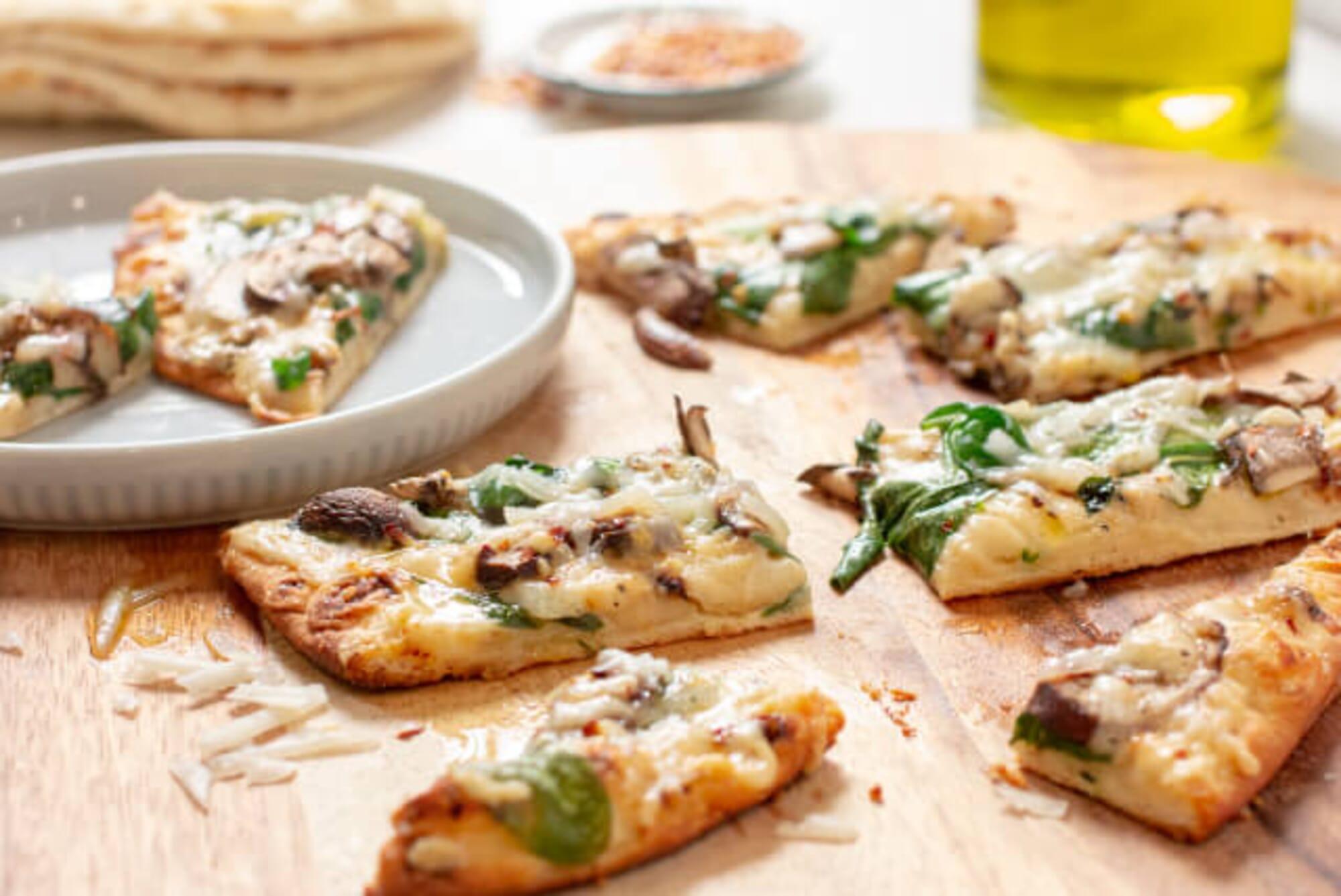 Spinach & Mushroom Tandoori Flatbread